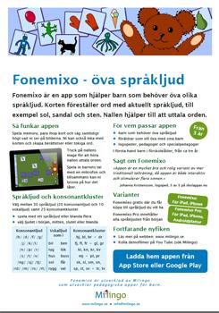 Ladda ner produktblad om Fonemixo