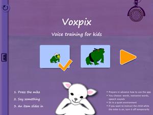 The startpage in Voxpix