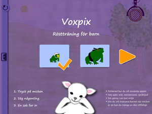 Startsidan i Voxpix